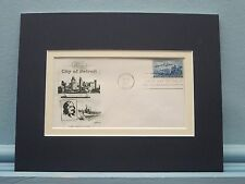 250th Anniversary of Detroit, Michigan and First Day Cover of its own stamp