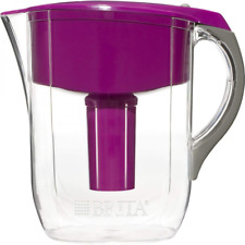 Brita 10 Cup Grand BPA Free Water Container Pitcher with 1 Filter Violet Kitchen