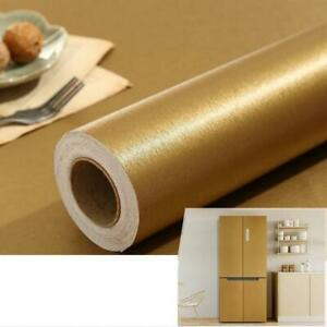 Metallic Brushed Contact Paper Furniture Protective Sticker Kitchen Cabinet DIY