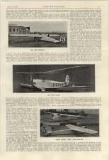 1924 Avril LUCE Monoplano BIPLANO English Electric Wren monoplano
