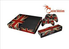 XBOX 1 ONE CONSOLE & CONTROLLER DECAL STICKER SKIN SET UNION JACK  FLAG UK STOCK