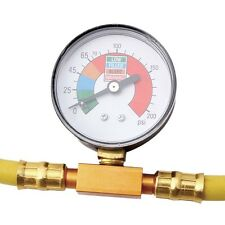1/2''Car Air Conditioning R134A Refrigerant Recharge Hose Pressure Gauge Durable