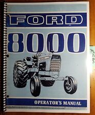 Ford 8000 Tractor 1970-1972 Owner's Operator's Manual SE 3096-A 42800011