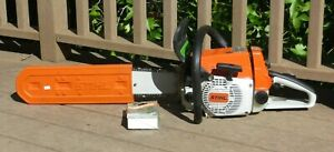 Vintage NEW Stihl 026 Chainsaw with 2 Chains, Manual *NEVER Fueled*