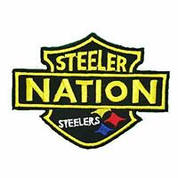 STEELERS NATION Embroidered Sew/Iron On  COLLECTIBLE Patch W/ FREE SHIP