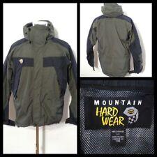 Mountain Hardwear Coat Men's Sm. Hunter Green & Black w/ Hood Inv#S9099