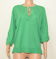 WOMANS GREEN V NECK JUMPER WITH NECK TIES SIZE 16/18 BNWT