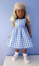 BJB Vintage Sasha doll clothes, Pretty blue and white gingham dress