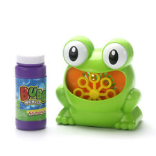 NEW Automatic Bubble Machine Cute Frog Soap Bubble Blower Outdoor Toy for Kids