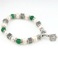 22414 Elastic Pearl Bracelet With Rhinwstone Beads Cage Locket Hand Catenary