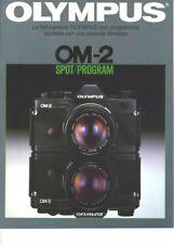 Reflex Olympus OM-2 spot program depliant illustrato italiano