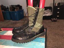 Black & Military Green Vintage Tactical / Combat Boots Men's Size 12 R