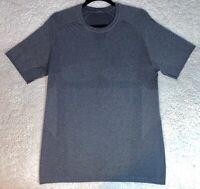 Lululemon Mens Heathered Gray Metal Vent Tech SS T Shirt Top Yoga Gym - Medium M