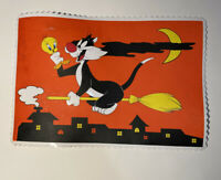 1994 vintage Looney Tunes Tweety Bird Halloween Vinyl Place Mat Sylvester Rare