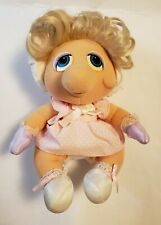 Vintage 1983 Hasbro Softies Miss Piggy Muppet Babies Stuffed Plush Animal
