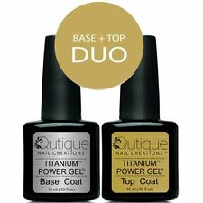 QUTIQUE Gel Nail Polish Colour -BASE & TOP COAT Pack/Kit/Set -Pro Salon