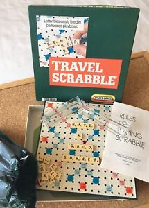 VINTAGE TRAVEL SCRABBLE BOARD GAME 100% COMPLETE SPEARS GAMES STAYCATION CAMPING