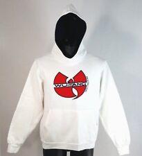 VINTAGE Wu-Tang Clan Hoodie Size S/M Hooded Sweatshirt Hip Hop Rap White RARE