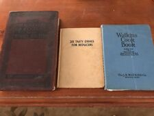 Antique Cookbooks Lot. Watkins/ 201 Tastes Dishes For Reducers/Timed Recipes