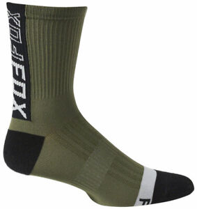 "Fox Racing Ranger Sock - Olive Green, 6"", Large/X-Large"