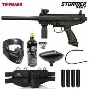 Maddog Tippmann Stormer Basic Silver Paintball Gun Marker Starter Package Black
