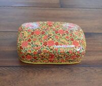 Trinket box hand painted lacquer paper Mache Kashmir India brand new style #002