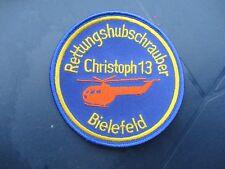 Abzeichen / Aufnäher Christoph 13 Bielefeld, ADAC, BGS, Rettungshubschrauber