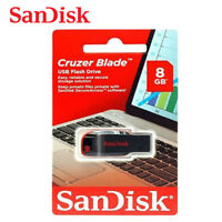 SanDisk 8GB Color - Negro Cruzer Blade Unidad USB Stick 2.0 Flash Drive SDCZ50