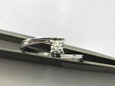 ANILLO SOLITARIO ORO BLANCO 18 Ct DIAMANTE 0,19 Ct F VS1 COMPROMISO