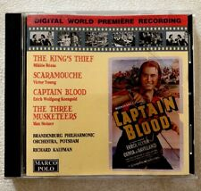 CAPTAIN BLOOD Three Musketeers SCARAMOUCHE King's Theif Cd Steiner Young Rozsa