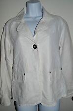 CHICO'S Women's Soft Denim Fashion Jacket SIZE 1 White Button-Up Classy Coat
