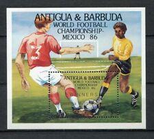 s5921) ANTIGUA & BARBUDA 1986 MNH** WC Football'86 - CM Calcio S/S-OVPTD WINNERS