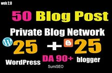 50 Pbn Blog Post Wordpress And Blogger 90 High Da