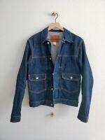 RRL Ralph Lauren Type 2 Raw Selvedge Cone Mills Denim Jacket Size M Made in USA