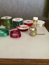 Christmas Crafting Supplies & other projects Ribbon, Glitter, Etc.