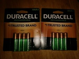 New Duracell ® 850 mAh Rechargeable AAA Batteries 8 Batteries DX2400 NiMh