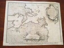 RARE 1745 Folded MAP Plan Attach Camaret Bay Bretagne Coast, Brest ENGLISH Dutch
