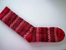 Fox River Women's wool blend crew socks Red  sz Large