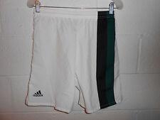 Vintage 90s White Black Green Adidas Shorts Small