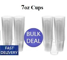 More details for clear plastic disposable water cups drinking glass vending machine style 7oz