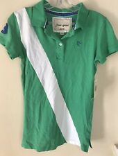 NWT $48 Green Free Spirit  Polo Shirt Top Golf Leisure Teens