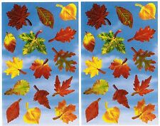 Mrs Grossman's Autumn Fall Leaves Photoessence Scrapbook Stickers 2 Sheets