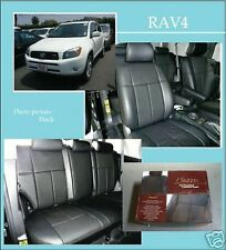 2012  toyota rav4 base model custom fit clazzio black leather seat cover