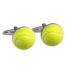 GIALLO pallina da tennis GEMELLI CAMICIA IN CONFEZIONE REGALO Wimbledon GRAN