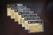 AUSTRALIAN PAPER 7 NOTE COA SET 24KT GOLD 999.9 GOLD BANK NOTES BANKNOTE