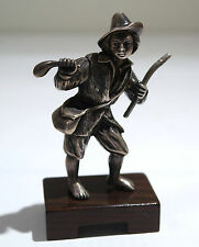 Continental Sterling Silver Figure of Shepherd Boy 20th Century