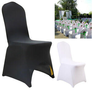 50/100pcs Flat Arched Front Covers Slip Spandex Chair Cover Wedding Party Decor