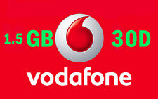 Vodafone 1.5GB Data 30 Days Sim Starter Pack Mobile Broadband Dual Cut