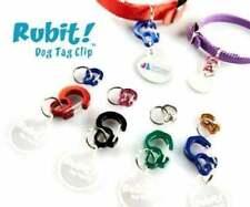 Rubit Curve Dog Tag Clip | Pet Tag Clip | Cat Tag Clip | Collar Clip