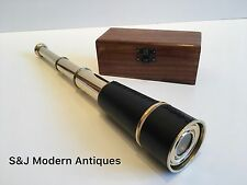Vintage Brass Telescope Antique 16 Inch Hand Extending Naval Victorian Pirate